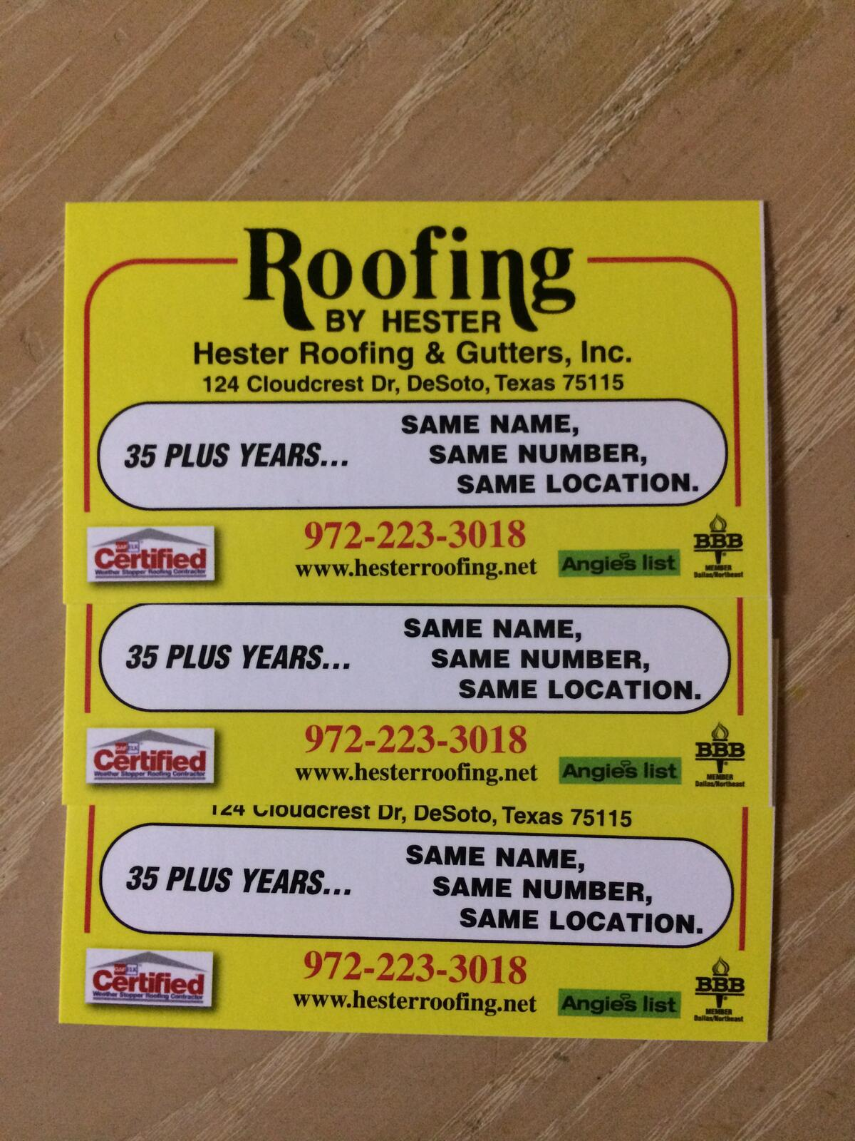 Hester Roofing Gutters Inc 10 Recommendations Desoto Tx