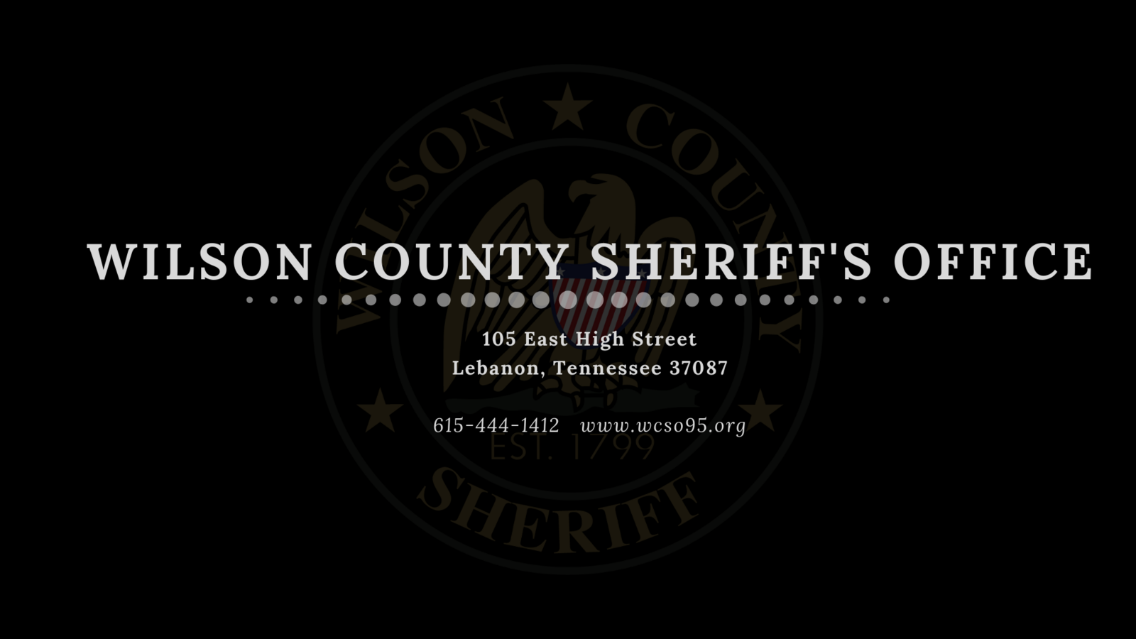 Facebook: WCSO Criminal Investigations (Wilson County