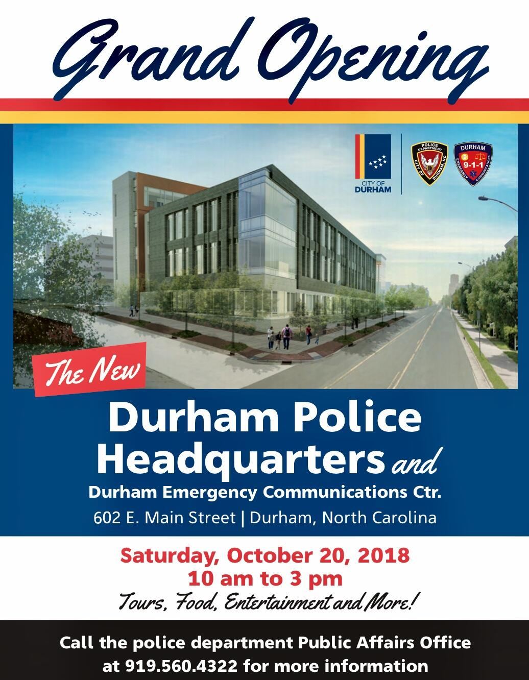 Durham Police 911 Center To Open New Headquarters Complex With