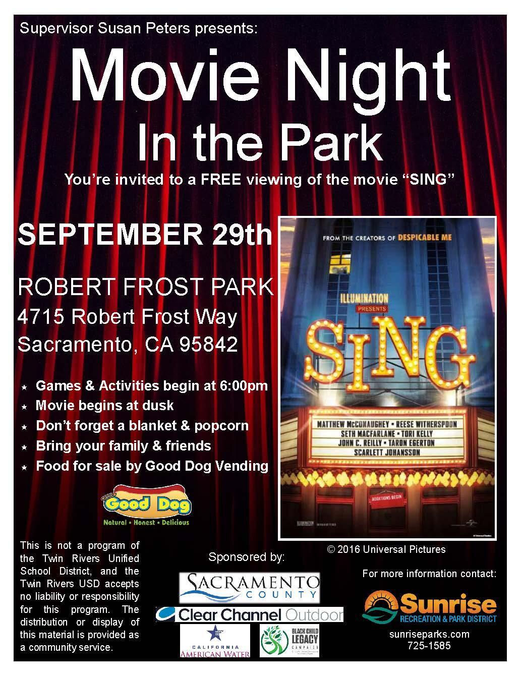 Movie night in the park sacramento county nextdoor 1betcityfo Choice Image