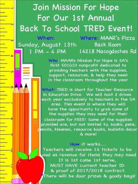 Aug 13 · 1st annual Teachers Drive!!!! — Nextdoor