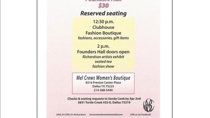 Apr 9 · Richardson Womens Club | Portraits of Spring