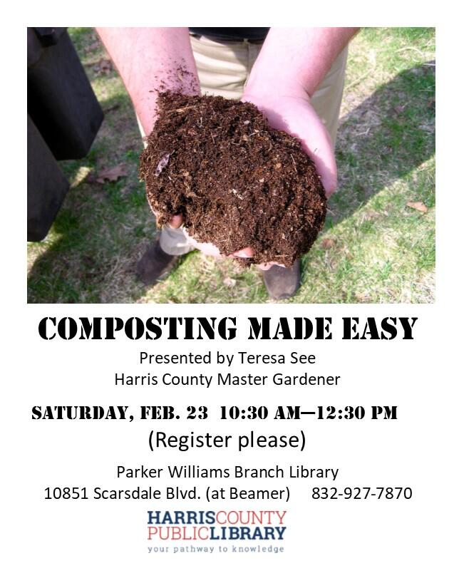 Composting Made Easy Workshop At Parker Williams Branch Library