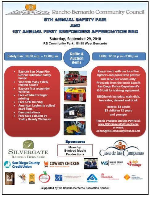 Rancho Bernardo 8th Annual Safety Fair Bbq San Diego Police