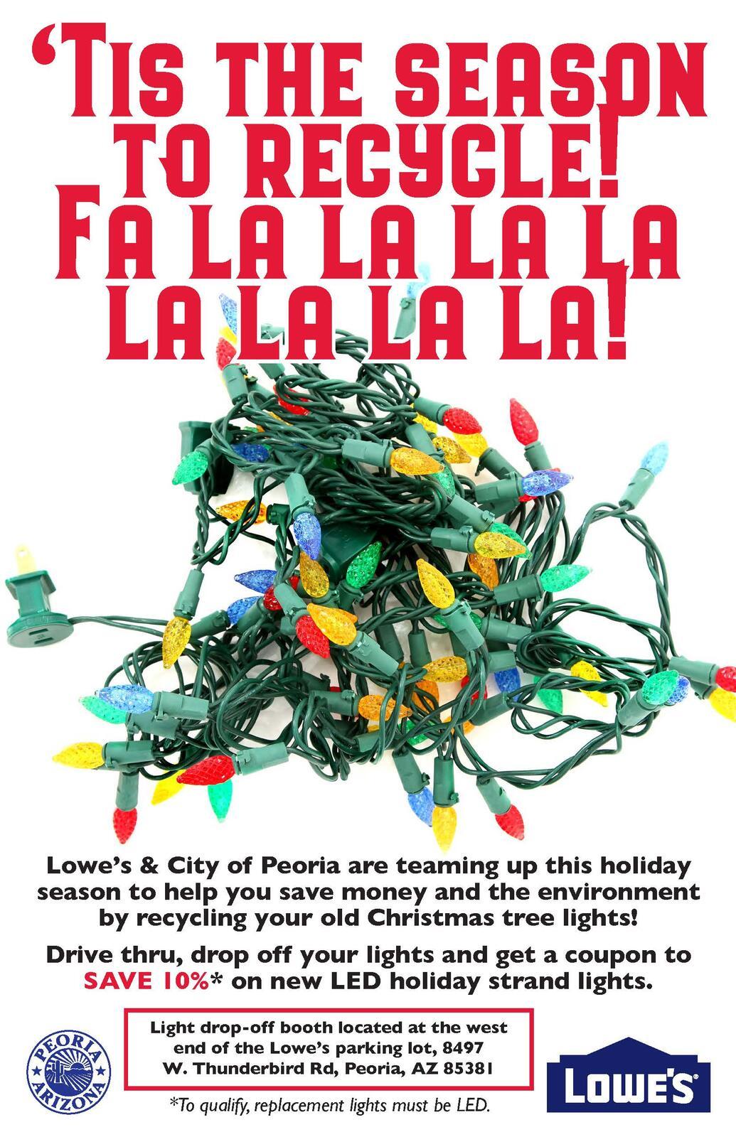 recycle your christmas tree lights city of peoria nextdoor
