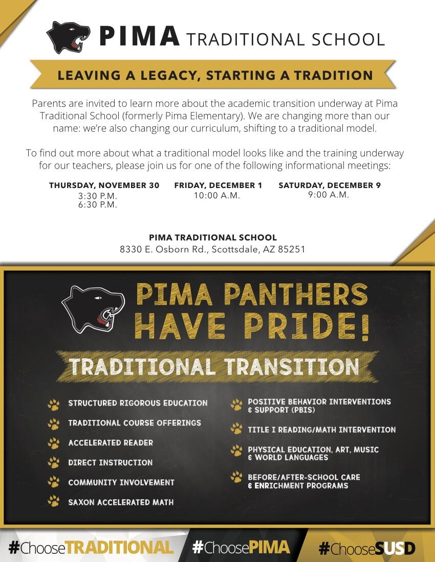 Pima Traditional Transition Informational Meeting Scottsdale