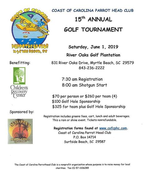 Jun 1 · COAST OF CAROLINA PARROT HEAD CLUB GOLF TOURNOMENT — Nextdoor