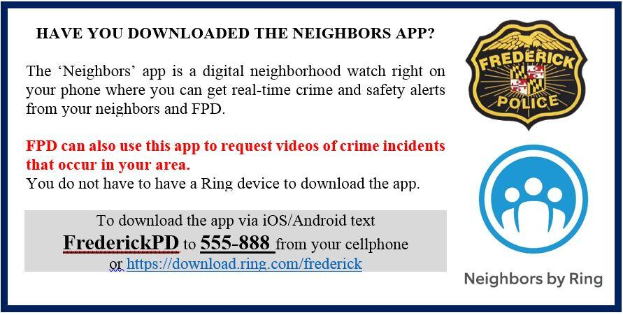 Neighbors App (Frederick Police Department) &mdash