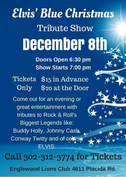 elvis blue christmas tribute show