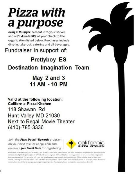 Outstanding May 3 California Pizza Kitchen Fundraiser For Pbe Download Free Architecture Designs Scobabritishbridgeorg
