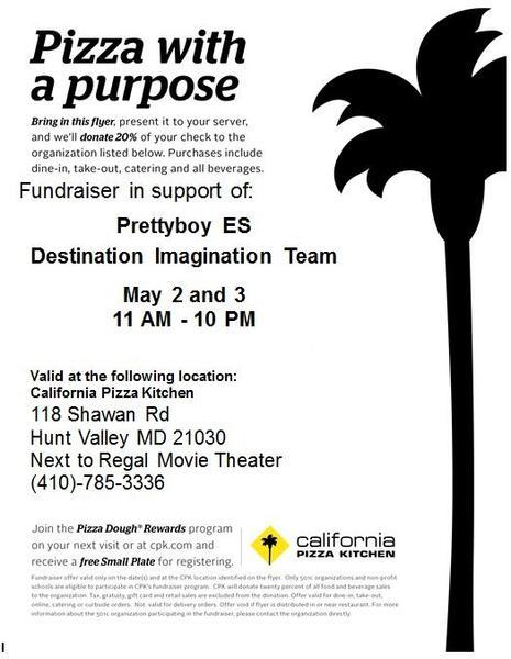 Pleasing May 3 California Pizza Kitchen Fundraiser For Pbe Interior Design Ideas Grebswwsoteloinfo