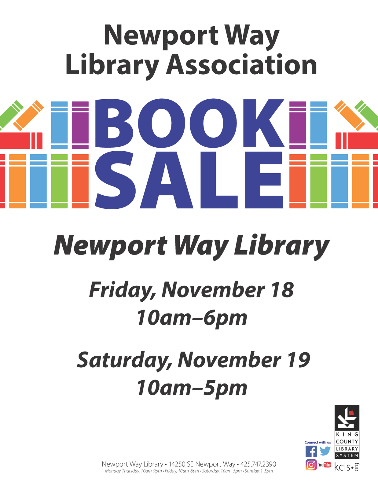 Nov 18 Book Sale Newport Way Library Association Nextdoor