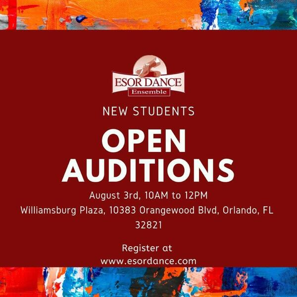 Aug 3 · ESOR DANCE OPEN AUDITIONS — Nextdoor