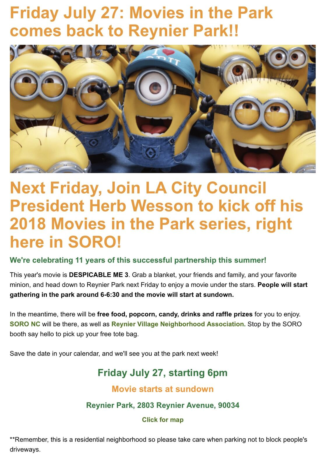 Movies in the Park (Los Angeles Police Department) &mdash