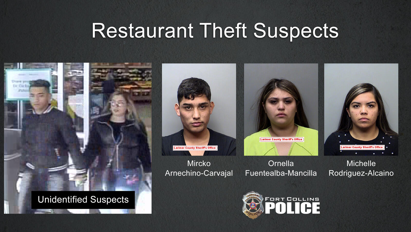 Suspects arrested for natural area break-ins, credit card thefts