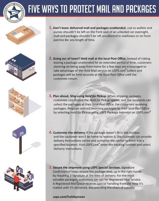 Package Delivery Safety Tips (San Diego County Sheriff's
