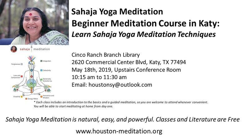 May 18 Sahaja Yoga Meditation Nextdoor