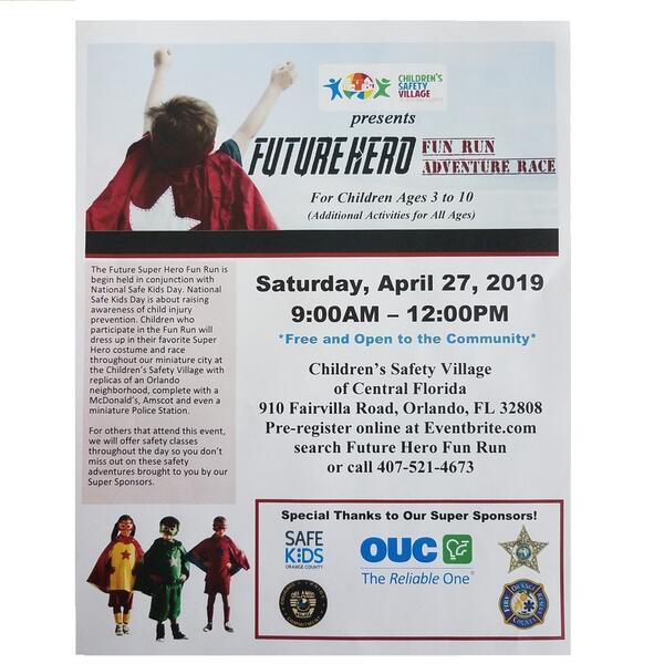 Apr 27 · Future Hero Fun Run/National Safe Kids Day — Nextdoor