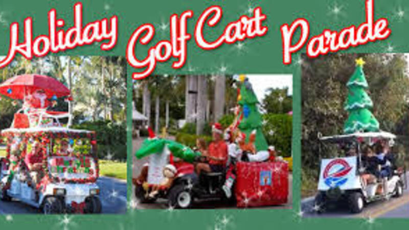 dec 16 ridges at riverwood plantation holiday decorated golf parade nextdoor