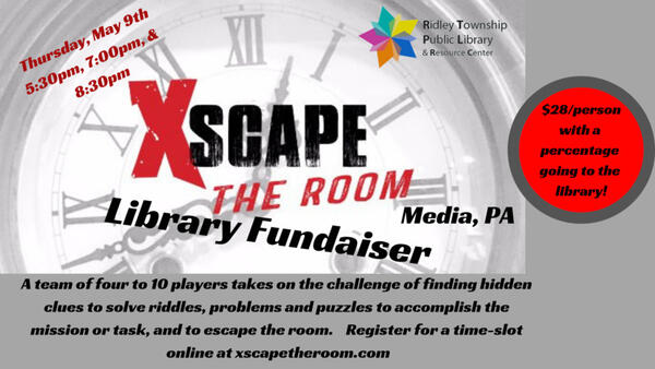 May 9 Escape The Room Library Fundraiser Nextdoor