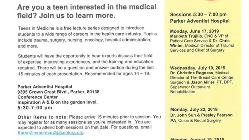 Jun 17 · Teens in Medicine free lecture series — Nextdoor