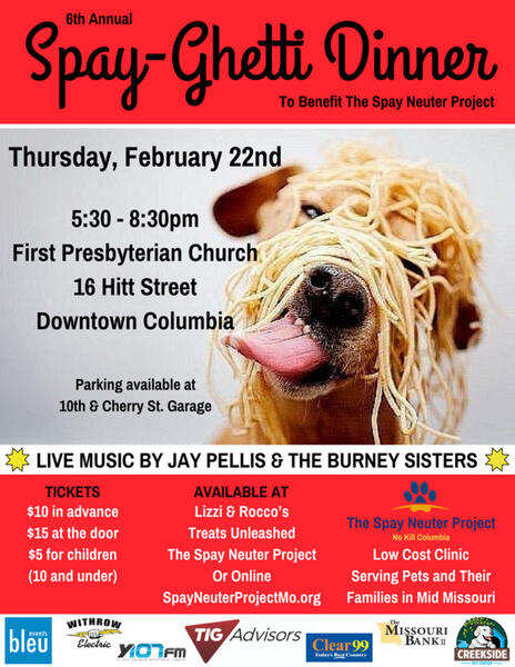 Feb 22 · The 6th Annual Spay-Ghetti Dinner — Nextdoor