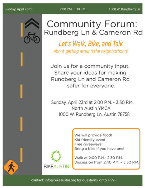Apr 23 · Safer Streets for Rundberg Ln and Cameron Rd: A