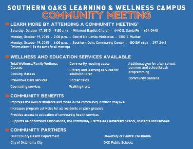 Open House meetings set for new Southern Oaks Wellness and