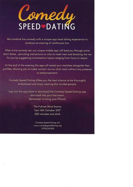 speed dating topics of conversation