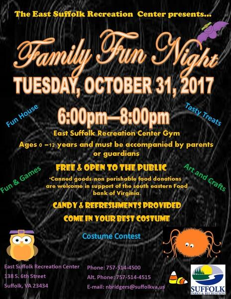 Oct 31 · Family Fun Night at East Suffolk Rec Center — Nextdoor