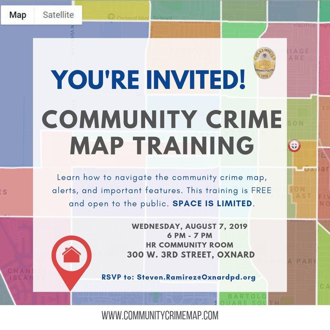 Community Crime Map Training (Oxnard Police Department