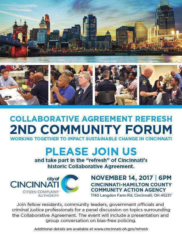 Collaborative Agreement Refresh Community Forum City Of Cincinnati