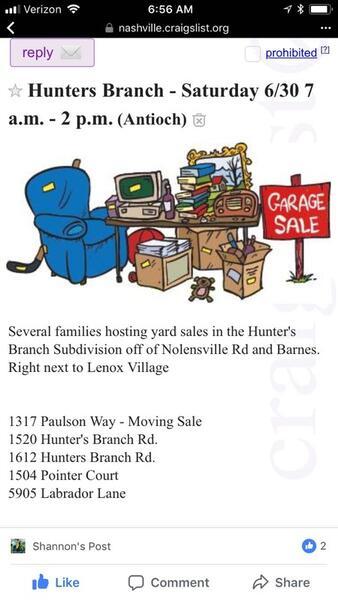 Jun 30 Neighborhood Yard Sale Nextdoor