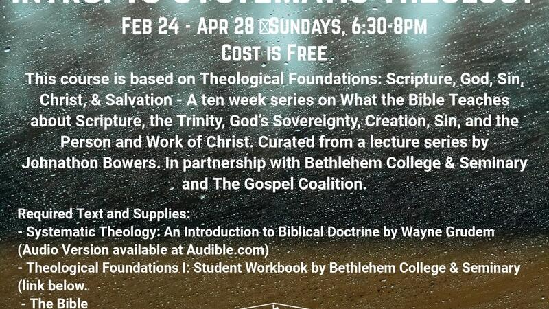Feb 24 Introduction To Systematic Theology Nextdoor