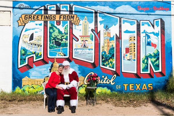 Nov 4 santa melvin iconic greetings from austin mural on santa melvin iconic greetings from austin mural on november 4th m4hsunfo