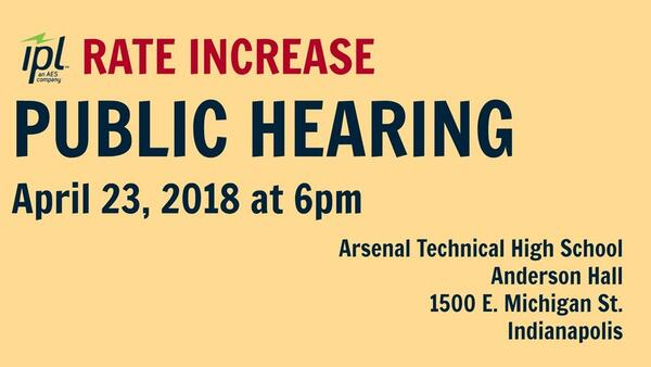Apr 23 Public Hearings Regarding Indianapolis Power And Light