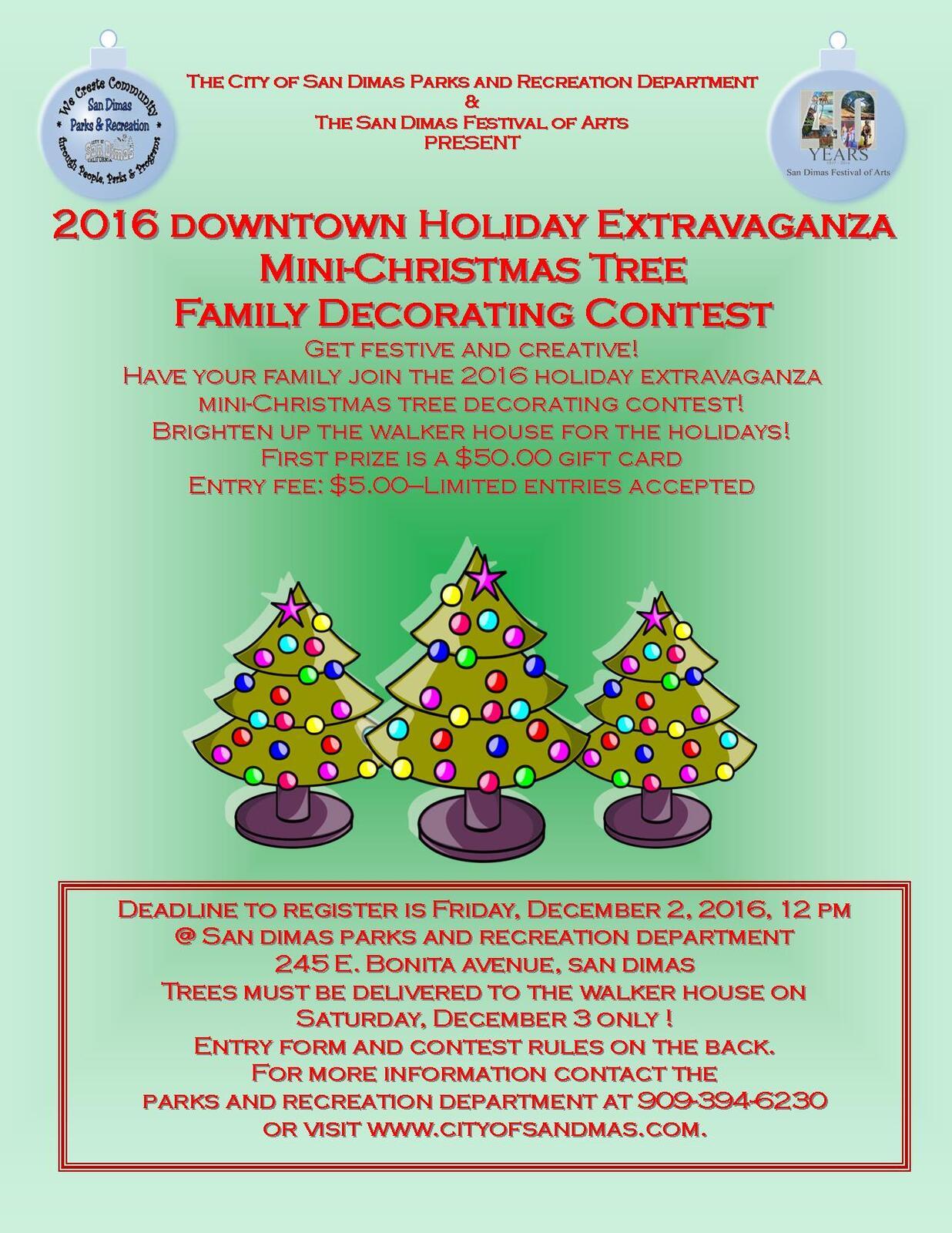 San Dimas Events Holiday Extravaganza And Tree Decorating Contest Los Angeles County Sheriff Mdash Nextdoor Nextdoor