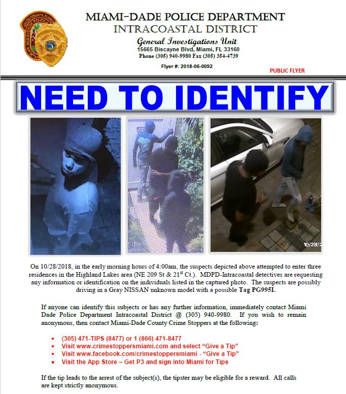 Need to Identify (Miami-Dade Police Department) &mdash