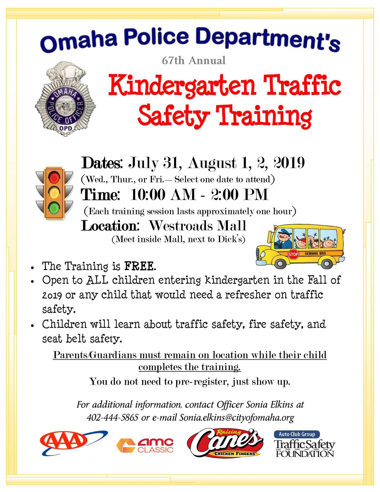 Kindergarten Traffic Safety Training (Omaha Police