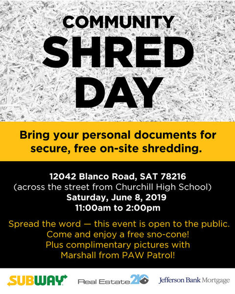 Jun 8 · Community Shred Day — Nextdoor