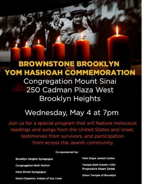 May 4 · Yom HaShoah/Holocaust Remembrance Day Commemoration