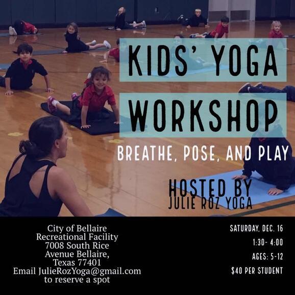Dec 15 Kids Yoga Workshop Nextdoor