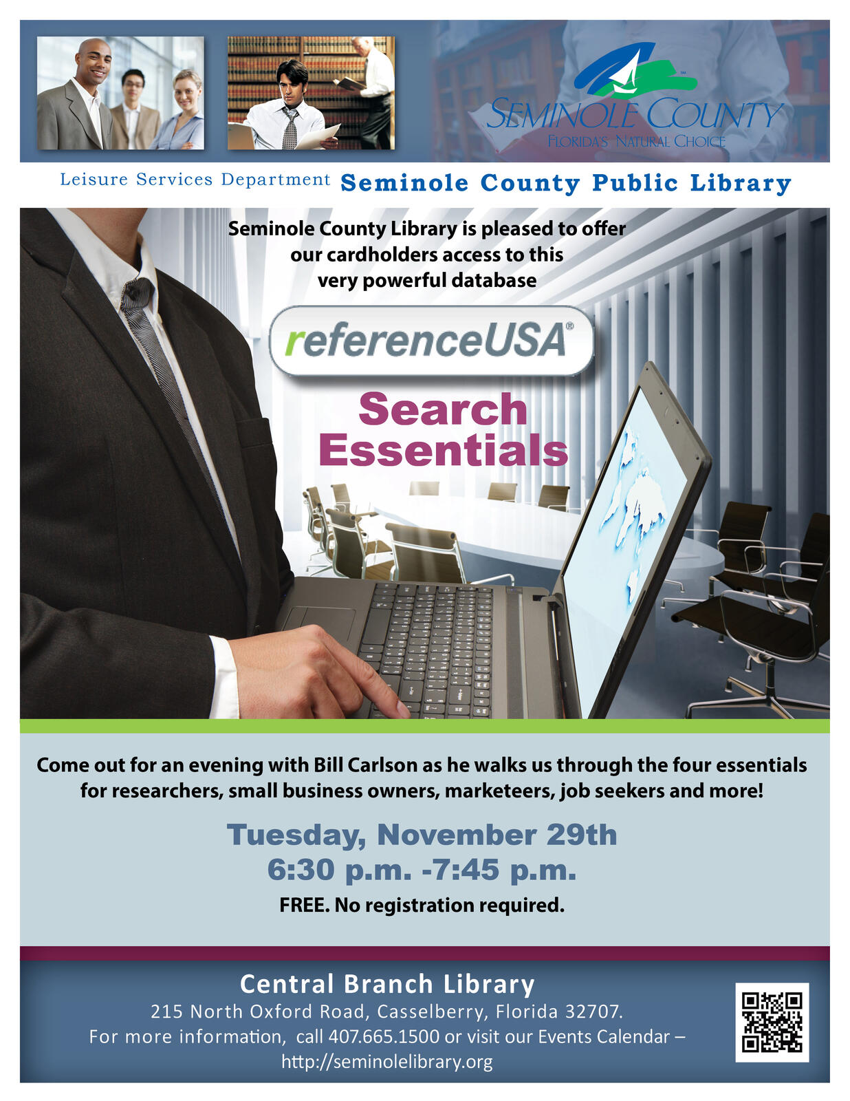 Reference USA Search Essentials @ the Library (Seminole