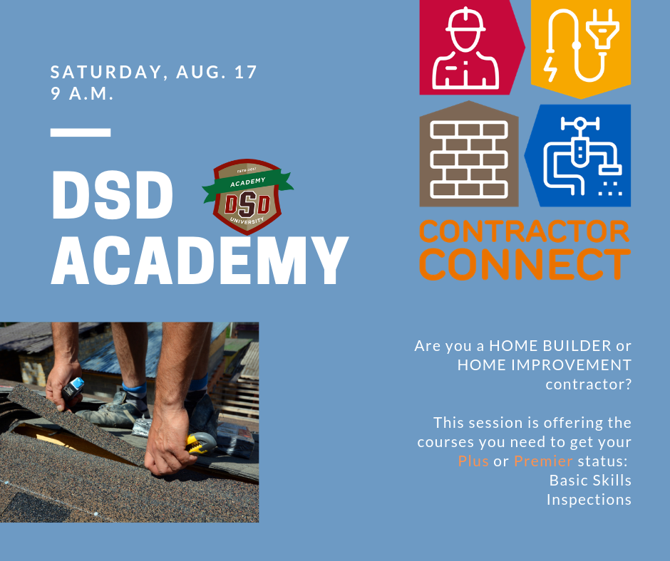 DSD Academy - Contractor Connect (City of San Antonio