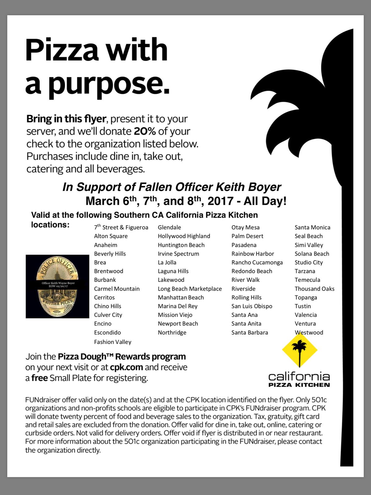 fundraiser for fallen officer keith boyer monday through wednesday