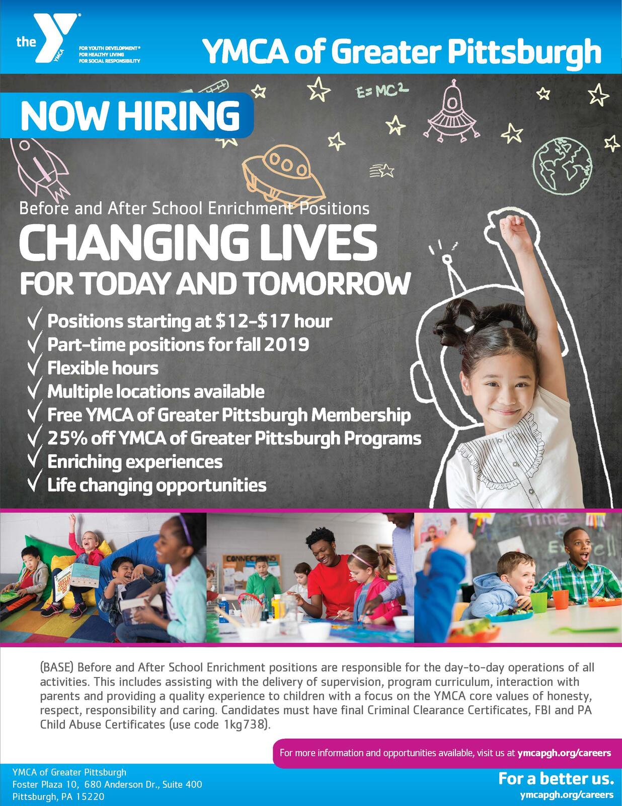 YMCA of Greater Pittsburgh Hiring - PT positions available
