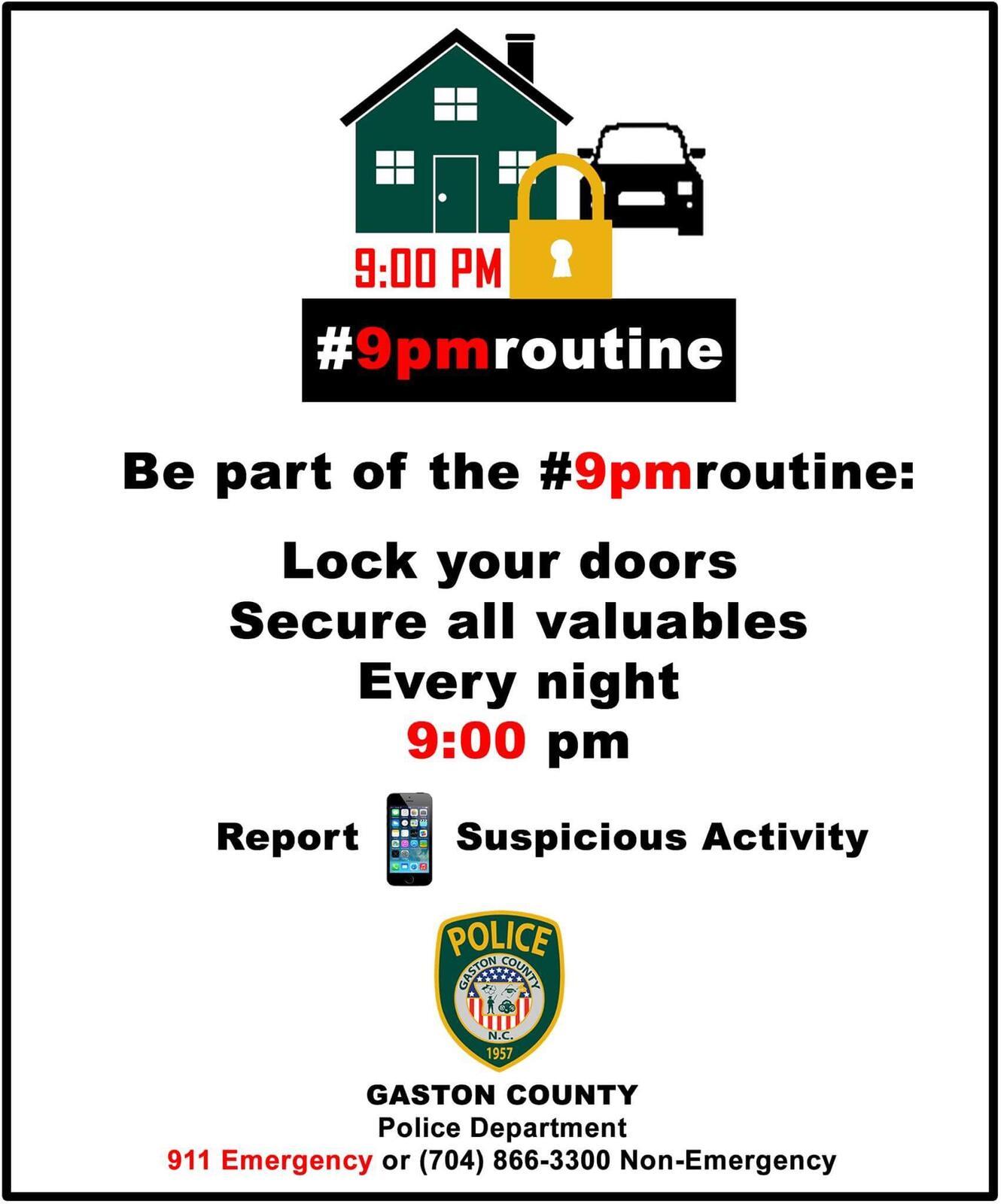 9pmroutine (Gaston County Police Department) &mdash