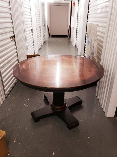 210 Reduced Price Great Value 1 Crate Barrel Copper Top Round Dining Tables For Sale Free Nextdoor