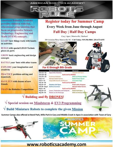 Jul 9 · LEGO Robotics Summer Camp — Nextdoor