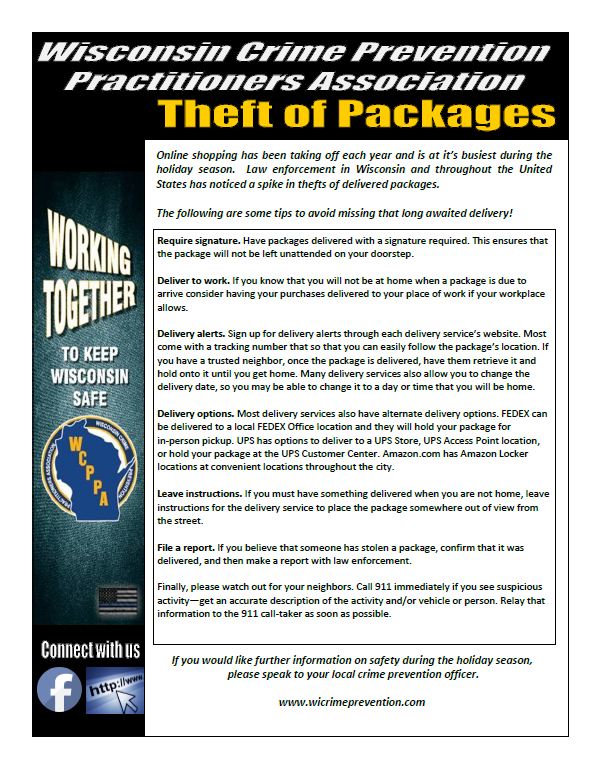 Prevent Package Thefts (Glendale Police Department) &mdash